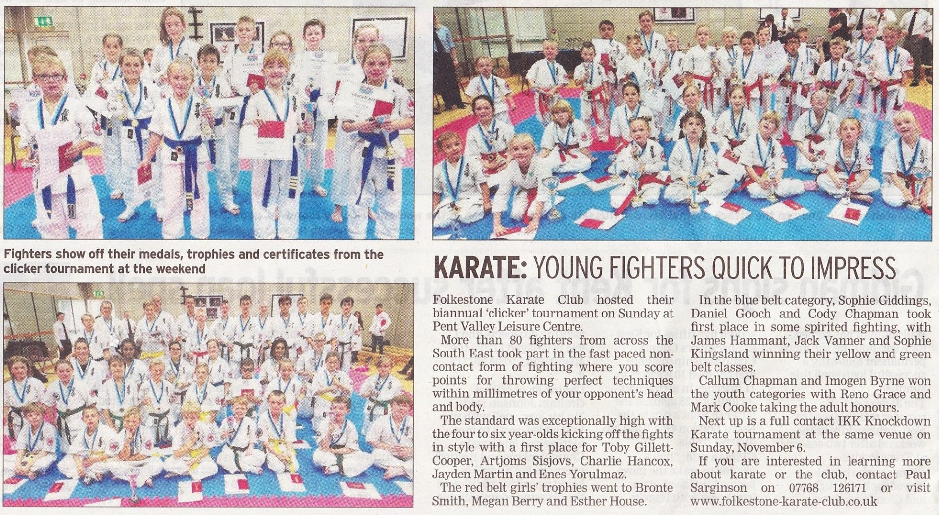 Newspaper Karate Clicker Oct 2016