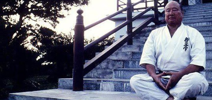 History of Kyokushin - Oyama on Steps