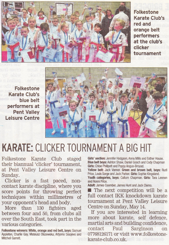 Newspaper Karate Clicker Feb 2017
